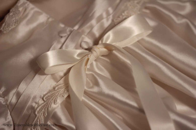 Ensembles of the Past - alterations - christening gown - bow